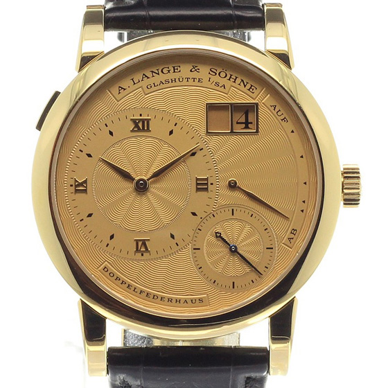A Lange and Sohne 112.021 Lange 1 A guilloche gold dial 112.021 Replica