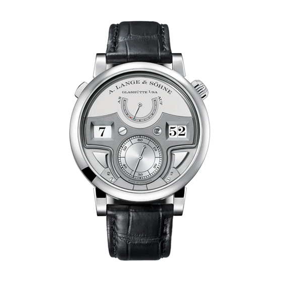 A. Lange & Sohne Zeitwerk Minute Repeater Platinum Men's Watch 147.025 Replica