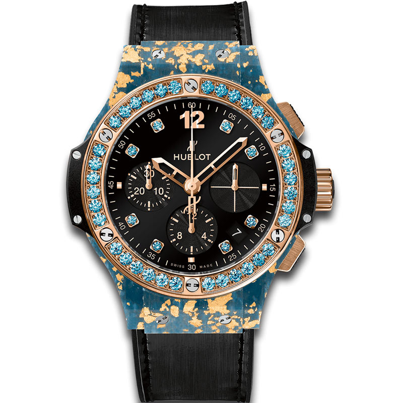 Hublot Big Bang Gold Linen Blue Gold 341.XL.1280.NR.1207