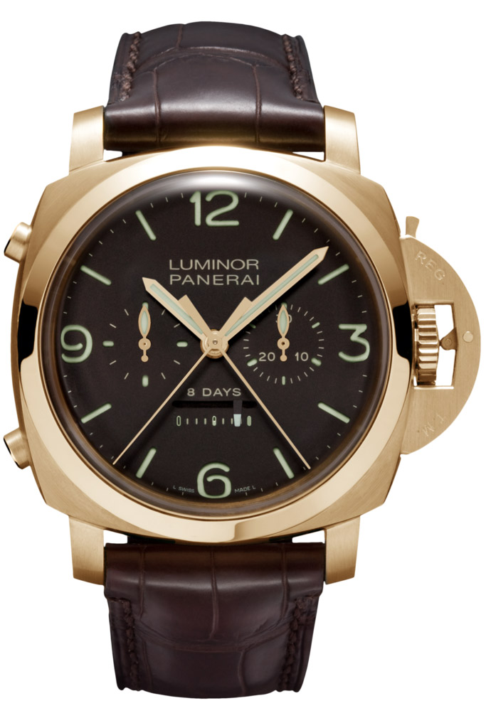 Panerai Luminor 1950 Rattrapante 8 Days Oro Rosa PAM00319