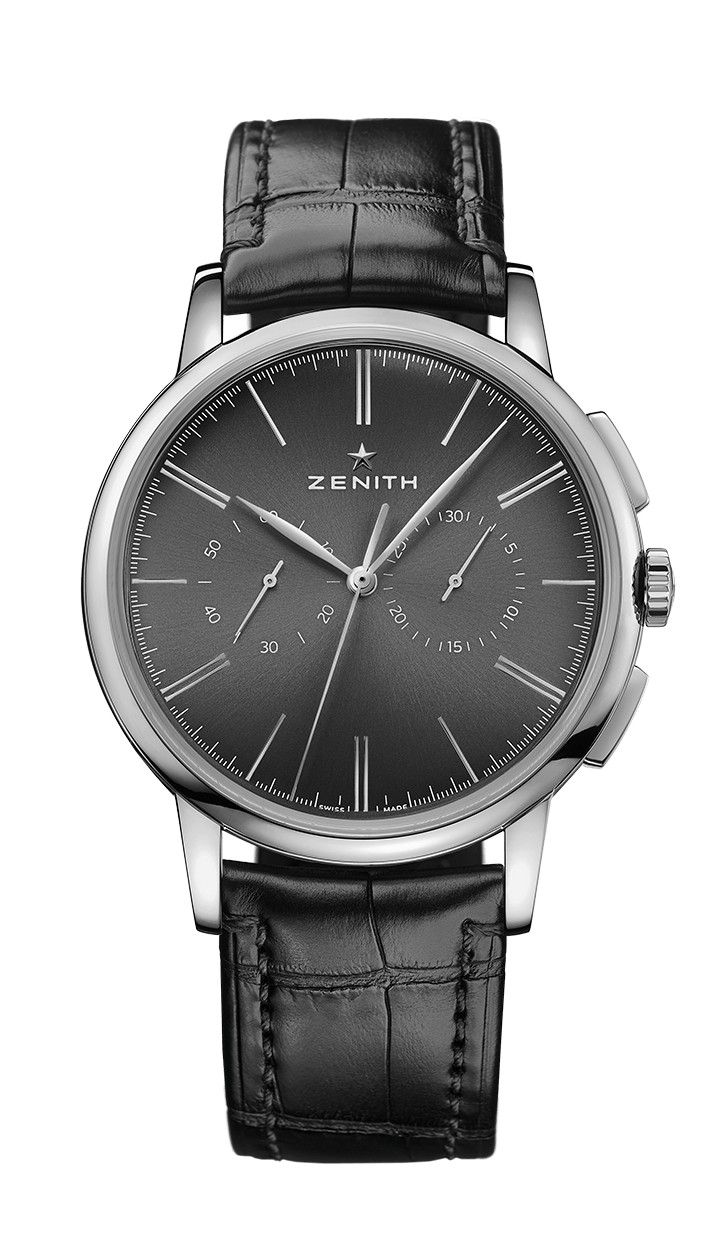 Zenith Elite Chronograph Classic Black alligator bracelet 03.2270.4069/26.C493