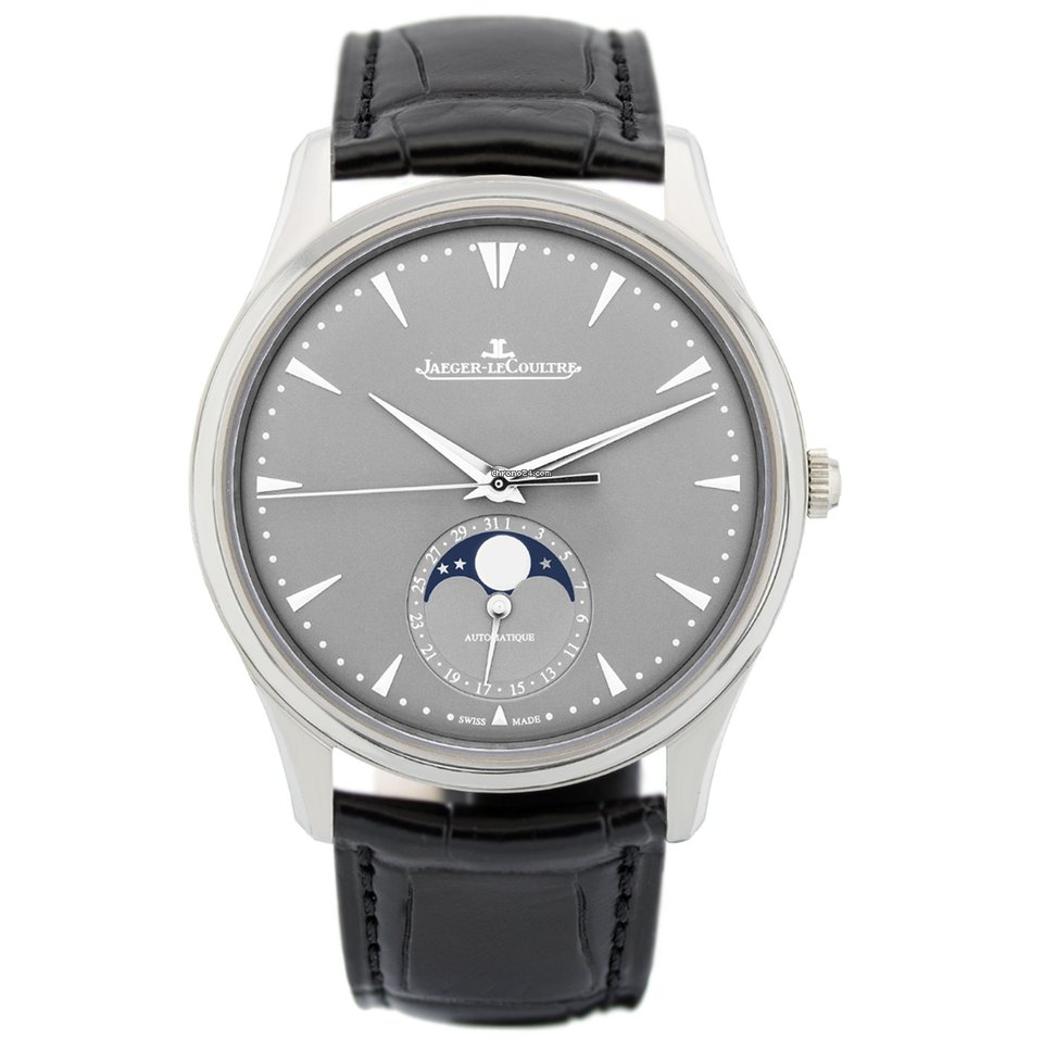 Jaeger LeCoultre Master Ultra Thin Moon White Gold Automatic Mens Watch Replica