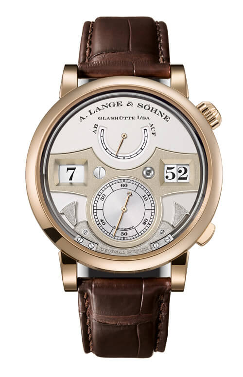 A. Lange & Sohne 143.050 Zeitwerk Decimal Strike Honey Gold/Silver Replica