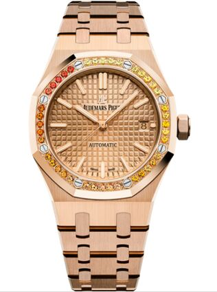 Audemars Piguet Royal Oak 15451 Selfwinding Pink Gold Pink Sapphire Watch Replica