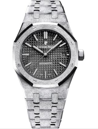 Audemars Piguet Royal Oak 15454 Selfwinding Frosted White Gold Black Watch Replica