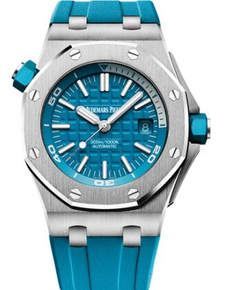 Audemars Piguet Royal Oak Offshore Diver Stainless Steel Turquoise Watch Replica