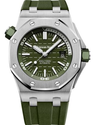 Audemars Piguet Royal Oak Offshore Diver Stainless Stee Khaki Watch Replica
