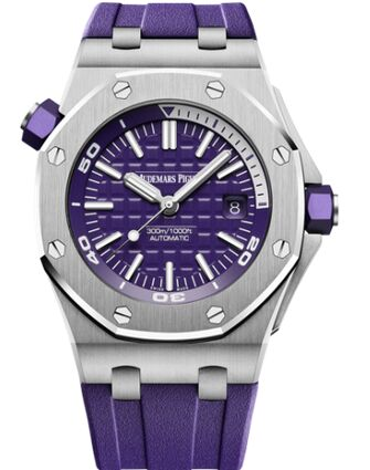 Audemars Piguet Royal Oak Offshore Diver Stainless Steel Purple Watch Replica