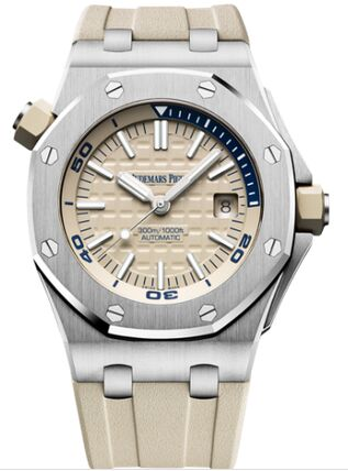 Audemars Piguet Royal Oak Offshore Diver Stainless Steel Beige Watch Replica