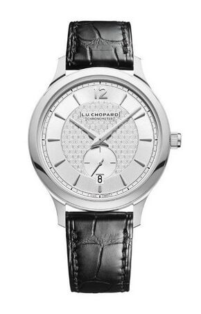 Chopard L.U.C XPS 1860 Officer 18K White Gold Mens Watch Replica