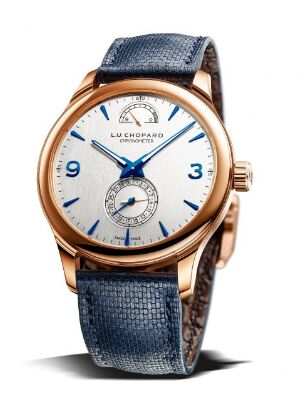 Chopard L.U.C Quattro Limited Edition 18K Rose Gold Mens Watch Replica - Click Image to Close