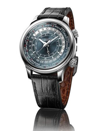 Chopard L.U.C Time Traveler One Platinum Mens Watch Replica