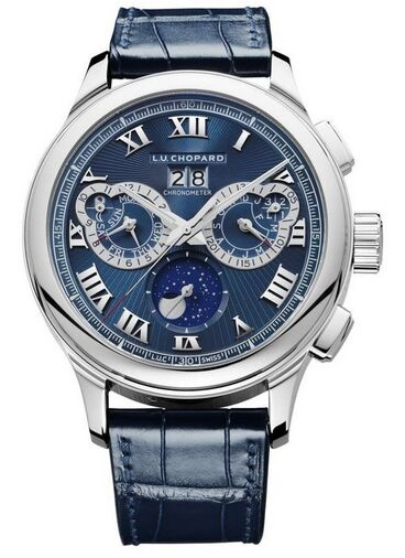 Chopard L.U.C Perpetual Chrono Platinum & 18K White Gold Mens Watch Replica