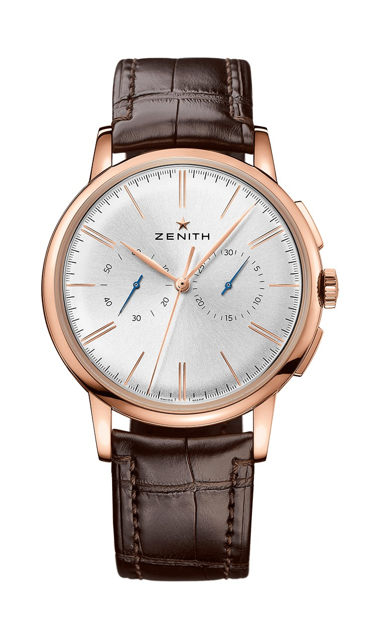 Zenith Elite Chronograph Classic Brown alligator bracelet 18.2270.4069/01.C498