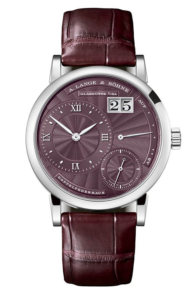 A. Lange & Sohne 181.039 Kleine Lange 1 White Gold/Purple Replica