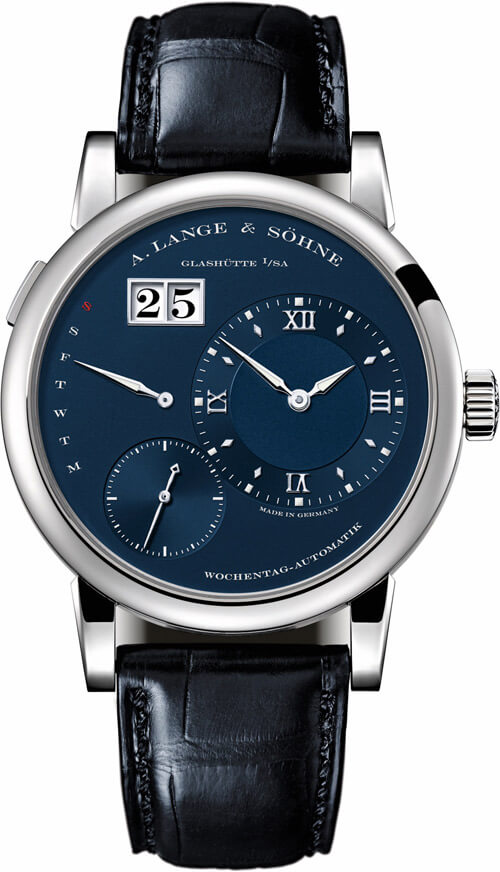A. Lange & Sohne 191.028 Lange 1 White Gold/Blue Replica