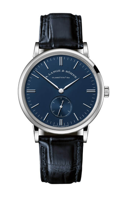 A. Lange & Sohne 219.028 Saxonia 35 White Gold/Blue Replica