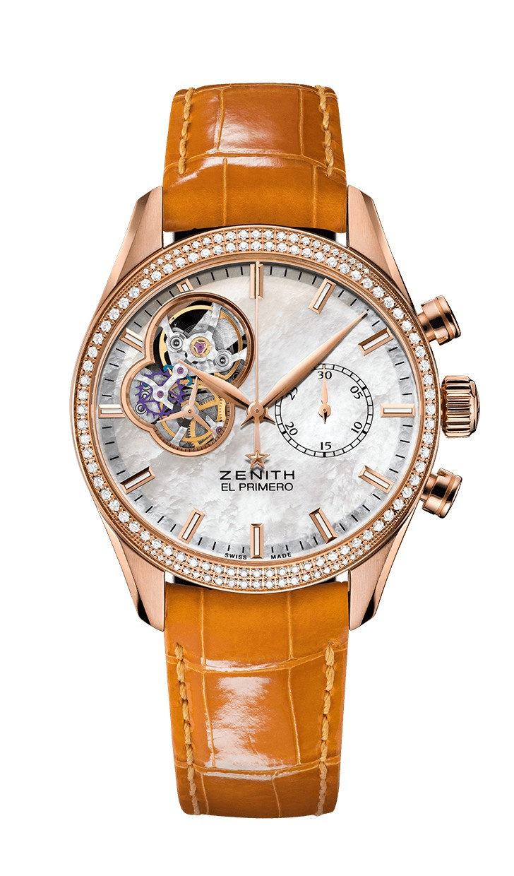 Zenith El Primero Chronomaster Open Lady Mother of pearl diamond 22.2150.4062/81.C753