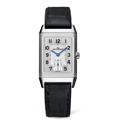 Jaeger LeCoultre Reverso Classic Silver Dial Mens Hand Wound Watch Replica