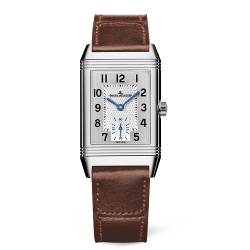 Jaeger-LeCoultre 2458422 Reverso Classic Medium Duoface Small Seconds Stainless Steel/Silver/Fagliano Replica