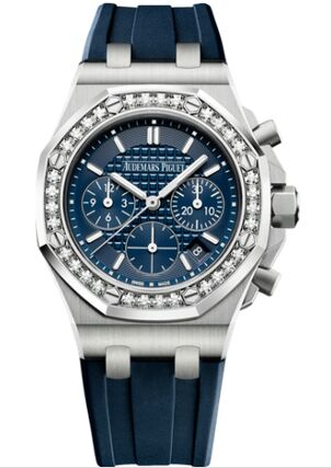 Audemars Piguet Royal Oak OffShore 26231 Lady Chronograph Stainless Steel Silver Diamond Watch Replica