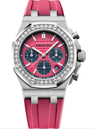 Audemars Piguet Royal Oak OffShore 26231 Lady Chronograph Stainless Steel Pink Diamond Watch Replica