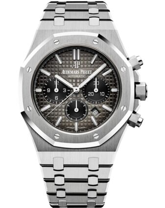 Audemars Piguet Royal Oak Chronograph 41 Platinum Smoked Slate Bracelet Watch Replica