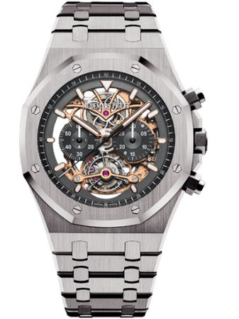 Audemars Piguet Royal Oak Tourbillon Chronograph Openworked Titanium Watch Replica