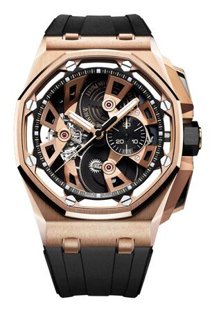 Audemars Piguet Royal Oak Offshore Tourbillon Chronograph Rose Gold Watch Replica