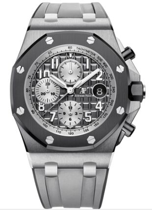 Audemars Piguet Royal Oak Offshore 26470 Titanium Grey Rubber Watch Replica