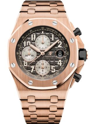 Audemars Piguet Royal Oak Offshore 26470 Pink Gold Grey Bracelet Watch Replica