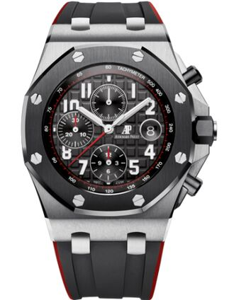 Audemars Piguet Royal Oak Offshore 26470 Stainless Steel Ceramic Black Rubber Watch Replica