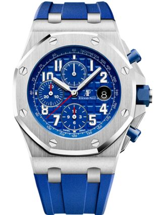 Audemars Piguet Royal Oak Offshore 26470 Stainless Steel Indigo Rubber Watch Replica