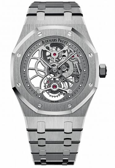 Audemars Piguet Royal Oak Tourbillon Extra-thin Openworked Stainless Steel Watch Replica