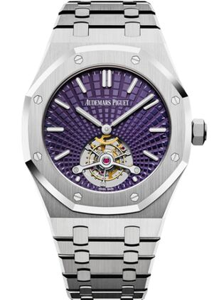 Audemars Piguet Royal Oak Ultra Thin Tourbillon Stainless Steel Plum Evolutive Watch Replica
