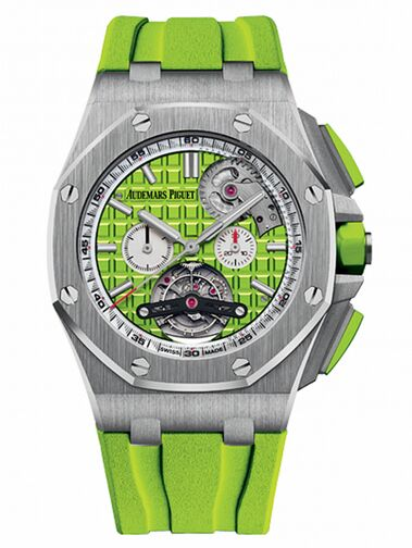 Audemars Piguet Royal Oak Offshore Tourbillon Chronograph Selfwinding Stainless Steel Watch Replica