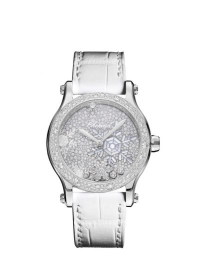 Chopard Happy Snowflakes 18K White Gold And Diamonds Limited Edition Watch Replica