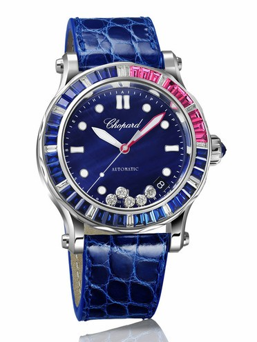 Chopard Happy Ocean Red Rose Calendar Ladies Watch Replica
