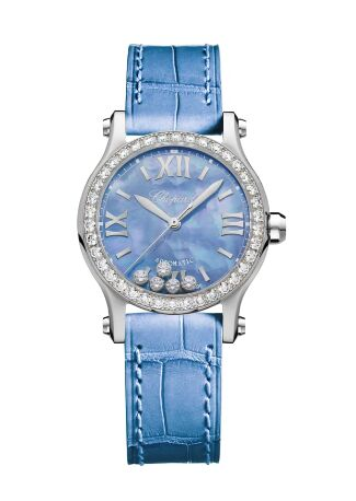 Chopard Happy Spot Stainless Steel Mother Of Pearl&Diamonds Watch Replica
