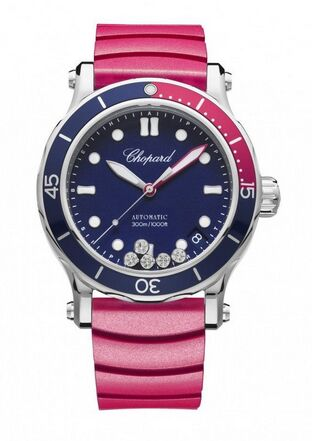 Chopard Happy Ocean Stainless Steel & Diamonds Ladies Watch Replica