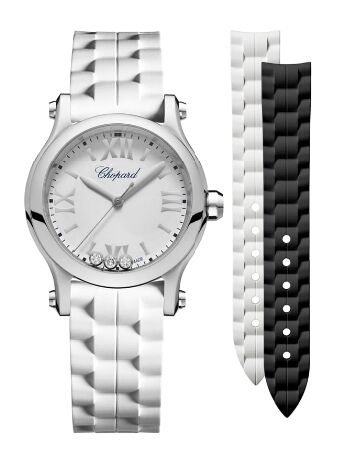 Chopard Happy Sport 30 MM Quartz Stainless Steel And Diamonds Watch Replica