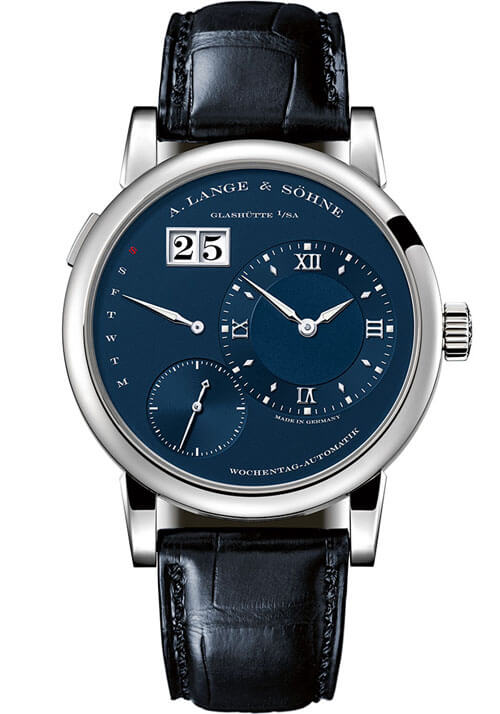 A. Lange & Sohne 320.028 Lange 1 Daymatic White Gold/Blue Replica