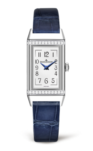 Jaeger LeCoultre Reverso Silver Dial Ladies Diamond Watch Replica