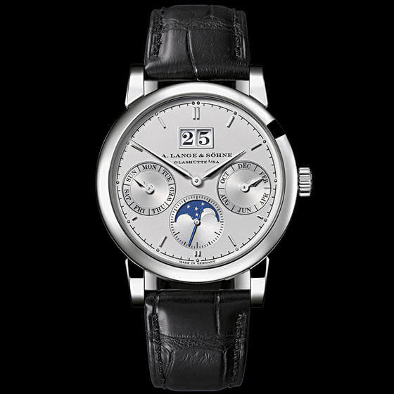 A. Lange & Sohne Saxonia Annual Calendar 38.5mm Mens Watch 330.025 Replica
