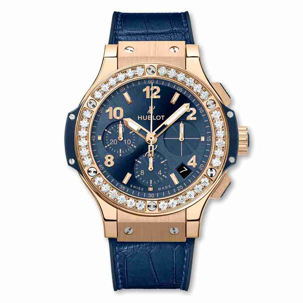 Hublot Big Bang Gold Blue Diamonds 41mm Replica