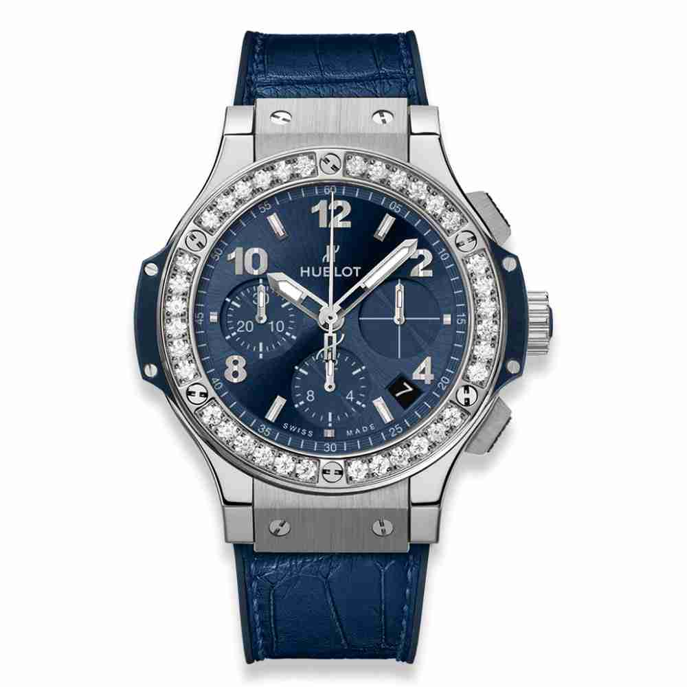 Hublot Big Bang Steel Blue Diamonds 41mm Replica - Click Image to Close