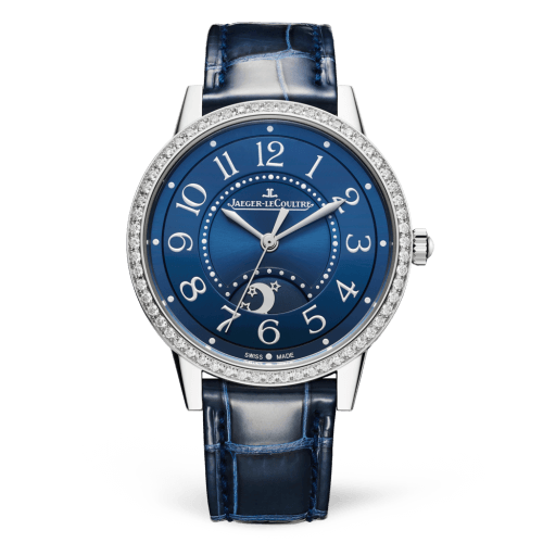 Jaeger-LeCoultre 3448480 Rendez-Vous Night & Day Medium Stainless Steel/Blue/Alligator Replica