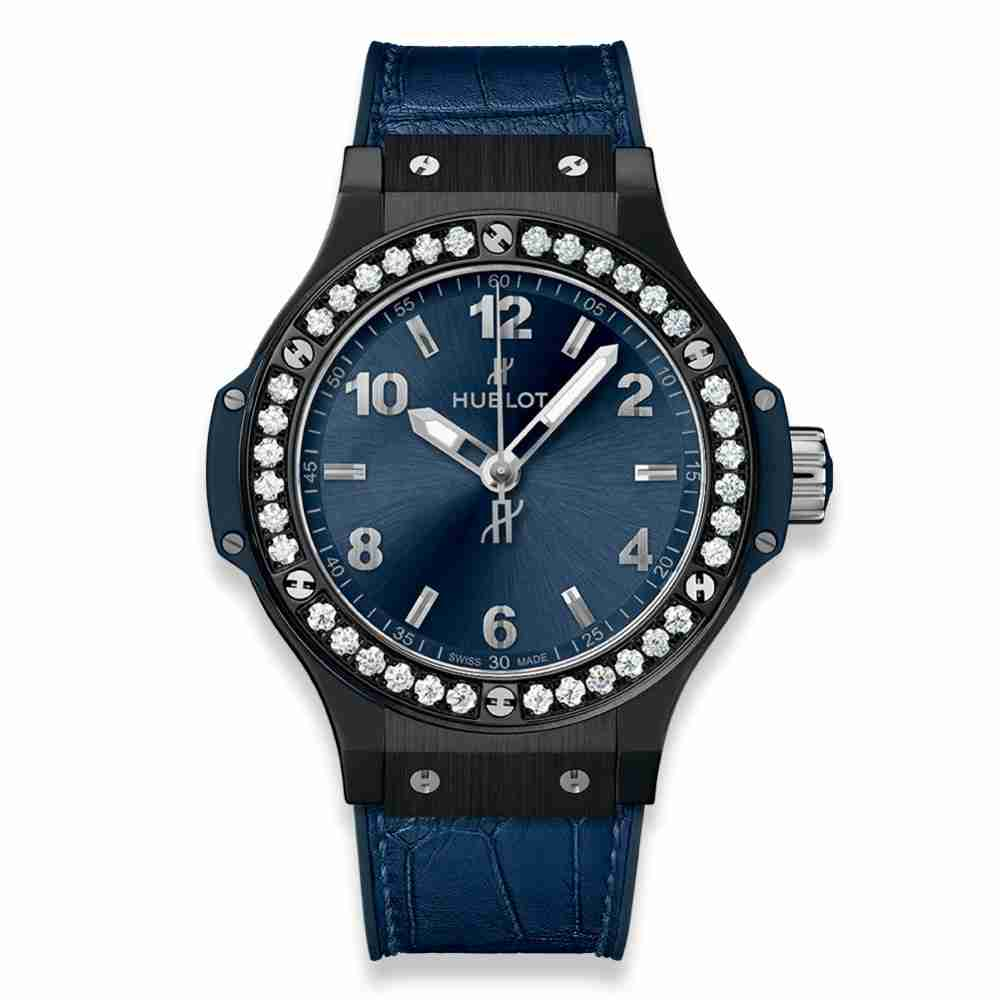 Hublot Big Bang Ceramic Blue Diamonds 38mm Replica