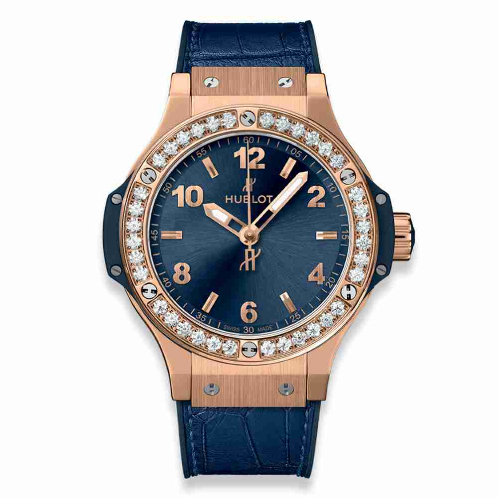 Hublot Big Bang Gold Blue Diamonds 38mm Replica