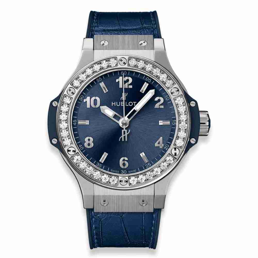 Hublot Big Bang Steel Blue Diamonds 38mm Replica